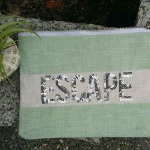 Handbags - Two's Company Jute Pouch